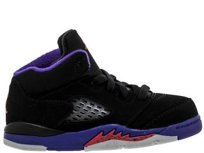 34aebd7789f7 Nike Toddler s Jordan 5 Retro GT Shoes NEW AUTHENTIC Black Purple 725172-017