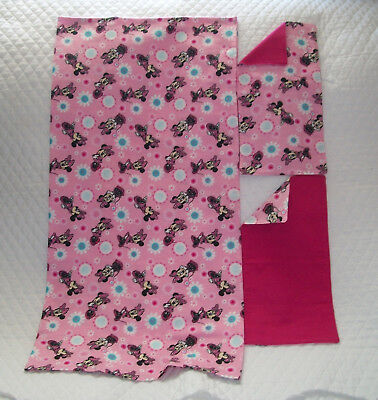 Homemade Minnie Mouse Design Receiving Blanket/Burp Cloths-Girls