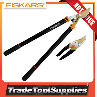 Fiskars Lopper & Secateur Pruner Set Titanium 500256