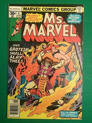 """Ms. Marvel #6, Grade 9.0 NM, """"AND GROTESK SHALL SLAY THEE!"""""""