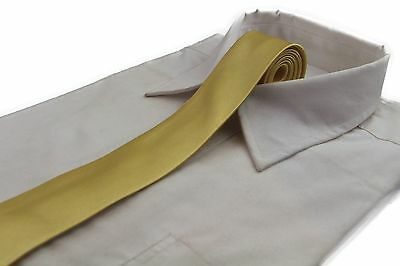 *CHEAP* 5CM MENS YELLOW GOLD TIE Necktie Neck Skinny Ties Wedding Formal Races