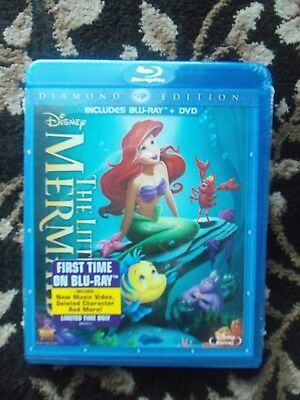 AUTHENTIC - Disney LITTLE MERMAID - Blu-ray / Dvd 2 Disc Diamond Edition - USA