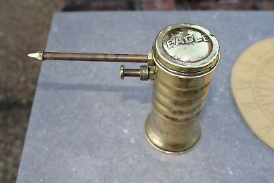 Eagle Super Pump Oiler Vintage Model 66 Brass Oil Can Made In USA