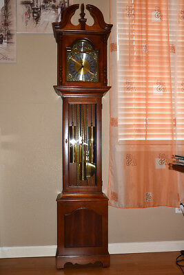 Howard Miller Grandfather Clock Chain Driven and Cabinet Key