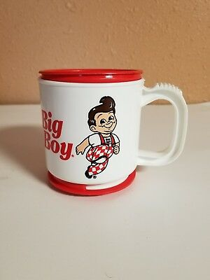 Vintage Bobs Big Boy Plastic Coffee Travel Cup Mug