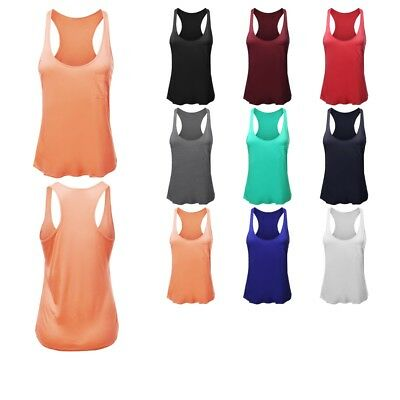 9a1ff485d3 FashionOutfit Women's Solid Sleeveless Racer-Back Flowy Tank Top (ONLY  $6.99!)