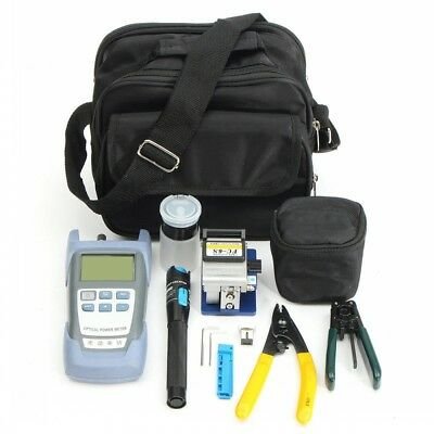 13pcs Fiber Optic FTTH Tool Kit FC-6S Cutter Fiber Cleaver Optical Power Meter