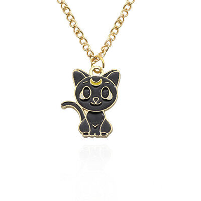 Anime Sailor Moon 25th Anniversary Luna Artemis Pendant Necklace Cosplay