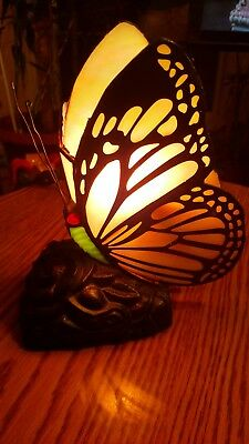 Ornate Butterfly Table Lamp Single Bulb Almuminated