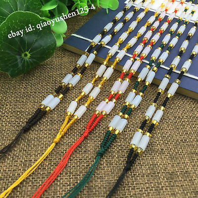 10PCSDIY Glaze Hand Woven Braided Beads Jade String Cord Rope Pendant Necklace 3