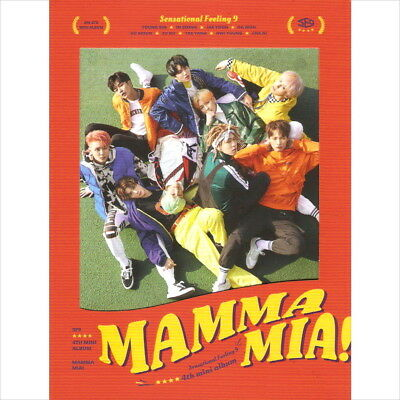 SF9 - Mamma Mia! 4th Mini Album CD+Booklet+SelfieCard+Casting Cover Card Sealed