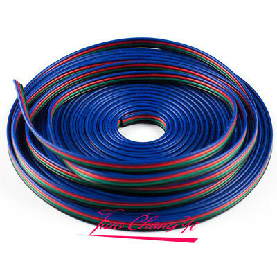 100m/lot 4PIN RGB Extension 4 Wire Cable Cord 3528/5050 RGB LED Strip Light