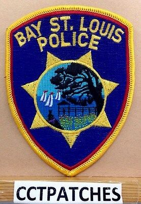 Bay St. Louis, Mississippi Police (Orange Border) Shoulder Patch Ms