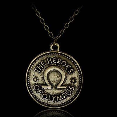 Percy Jackson The Heroes of Olympus Camp Half Blood Ivlivs Coin Pendant Necklace