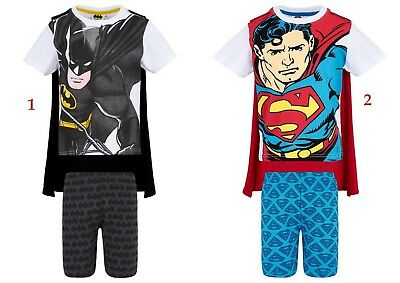 Boys Kids Children Batman Superman Pyjamas T-Shirt Shorts Set pjs Age 4-10years