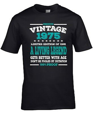Men's 43rd Birthday T-Shirt 1975 Fathers Day Living Legend Gift Idea Any Year