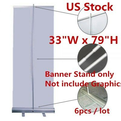 "USA 6pcs 33""W x 79""H High Quality Standard Retractable / Roll Up Banner Stand"