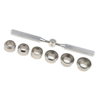 7pcs 5537 Stainless Steel Watch Screw Back Case Opener for Watch Tool Kits