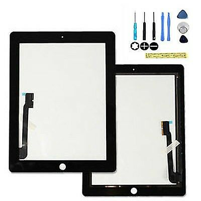 Black for New iPad3 iPad4 Glass Digitizer Touch Screen Replacement