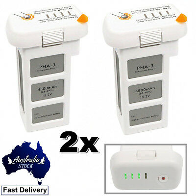 2 x 4500mAh Intelligent Flight DJI Phantom 3 Battery For Standard/Pro/Advance