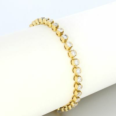 Wert 14.600,- Elegantes Tennisarmband 5,40 Ct Brillanten 750 / 18 Kt Gold Sale
