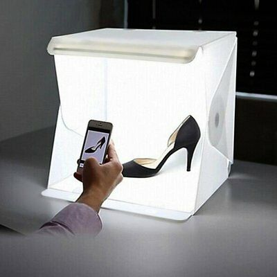 Portable Photo Studio Lighting Box Photography Backdrop LED Light Room Tent UK D