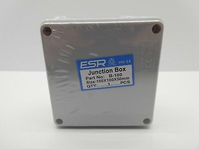 ESR ENCLOSURE JUNCTION BOX ADAPTABLE PVC PLASTIC IP56 WATERPROOF 100x100x50mm