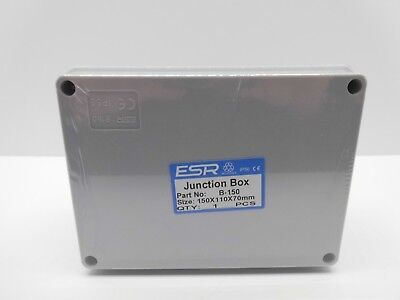 ESR ENCLOSURE JUNCTION BOX ADAPTABLE PVC PLASTIC IP56 WATERPROOF 150x110x70mm