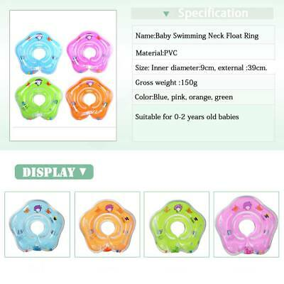 Baby Swimming Neck Float Infant Bath Ring Inflatable Safety Aids 0-18 Months UK