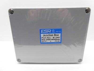 ESR ENCLOSURE JUNCTION BOX ADAPTABLE PVC PLASTIC IP56 WATERPROOF 240x190x90mm