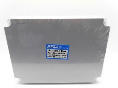 ESR ENCLOSURE JUNCTION BOX ADAPTABLE PVC PLASTIC IP56 WATERPROOF 300x220x120mm