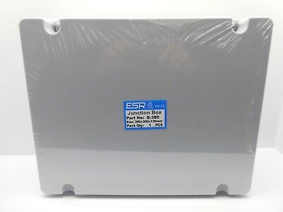 ESR ENCLOSURE JUNCTION BOX ADAPTABLE PVC PLASTIC IP56 WATERPROOF 380x300x120mm