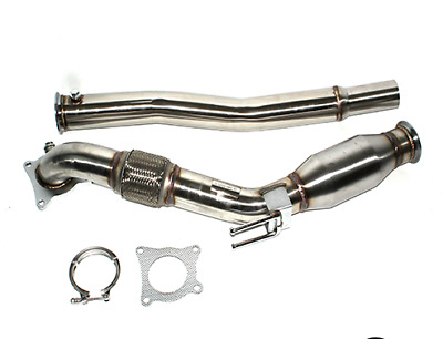 """Stainless Downpipe 3"""" Vw Golf Mk5 / Mk6 / Scirocco Mk3  With 200 Cell Cat"""