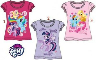 Girls Children My Little Pony Short Sleeve Tee Tshirt T-Shirt Top Age 2-8 years