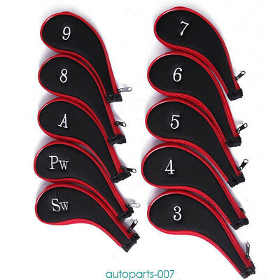 Cotton 10pcs/set Golf Club Iron Head Covers Protector Set For Taylormade Golf UK