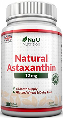 Nu U Nutrition Astaxanthin Premium Strength, 12mg   180 Softgels (6 Month Sup