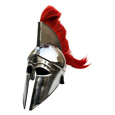 Unidecor Medieval Greek Corinthian Armour Helmet With Red Plume Knight Spartan