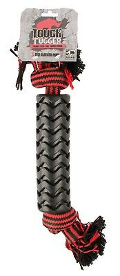Tough Tugger TPR Sleeved Rope Black Chew Dog Pet Toy