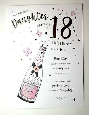 To A Very Special Daughter Happy 18th Birthday Very Pretty 18