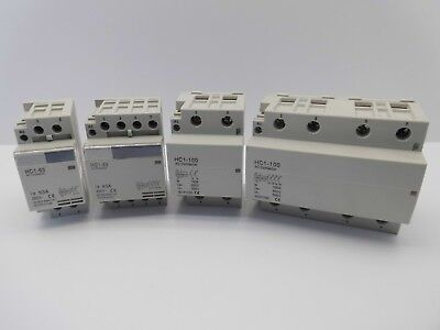Hc1 Din Rail Mounted Insatllation Contactor 63, 100 Amp 2, 4 Pole 230, 440 Volt