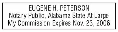 State of Alabama | Custom Rectangle Self-Inking NOTARY SEAL RUBBER STAMP