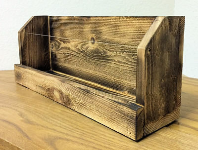 Greeting Card Display Shelf - Torched Cedar Wood, Vendor Display for Craft shows