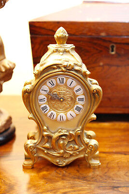 A Fine Swiss IMHOF Gilt Brass Mantel Clock, Jublié,15 Jewels, 'Louis XV', GWO
