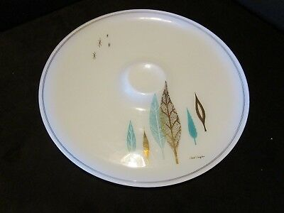 Mid -century Atomic glass round serving tray Starburst David Douglas 1960s ERA