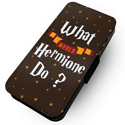 What Would Hermione Do? - Printed Faux Leather Flip Phone Case #1
