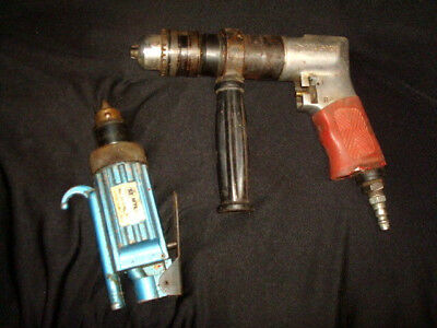 Myers INLINE AIR DRILL 3/8  AND A HUSKY RIGHT ANGLE DRILL 1/2