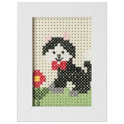 Beginners / Childrens Counted Cross Stitch Kit with Frame - Cat - GCS04