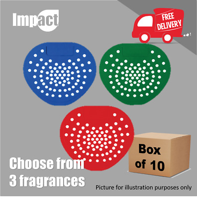 Urinal Mat Screen Washroom Toilet - 3 Fragrances Deodoriser - Pack of 10