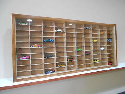 Display case cabinet for 1/64 diecast scale cars (hot wheels, matchbox)-100NWW-1