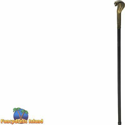 Voodoo Walking Stick Cane Snake Witch Doctor Mens Fancy Dress Accessory